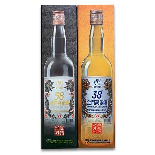 金門高粱酒 2本セット 58度・38度 (600ml/本)